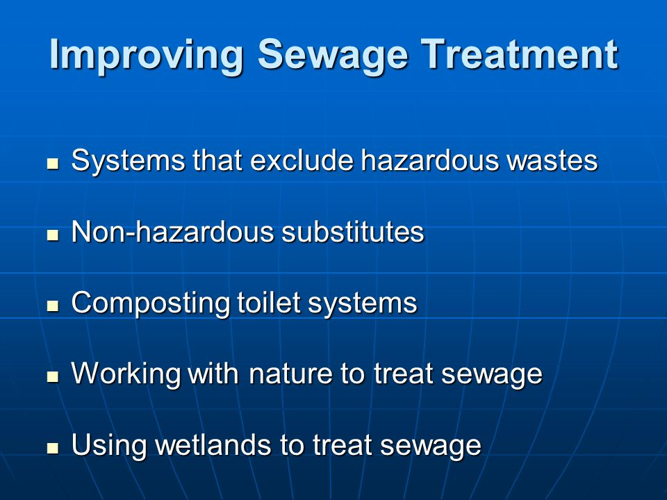 Improving Sewage Treatment