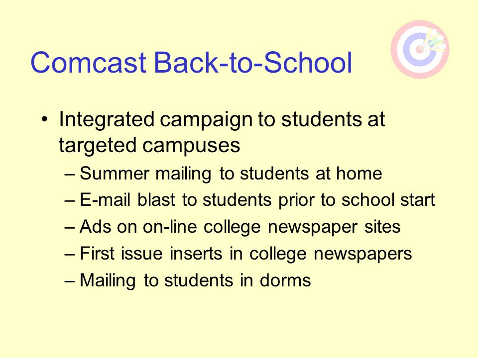 Comcast Back-to-School