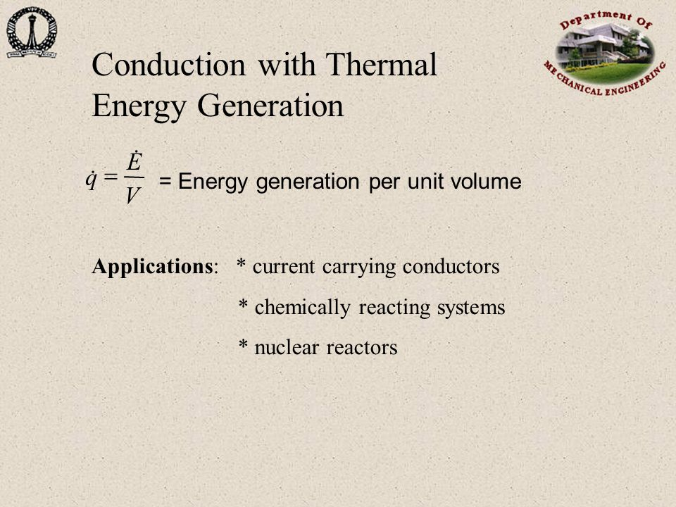 Conduction with Thermal Energy Generation