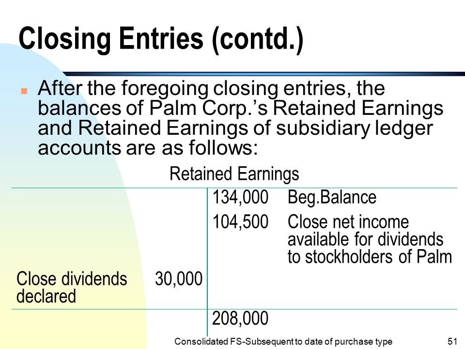 Closing Entries (contd.)