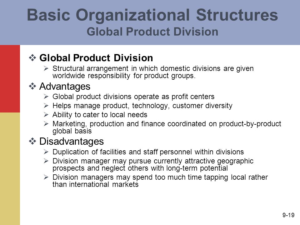 product division organizational structure
