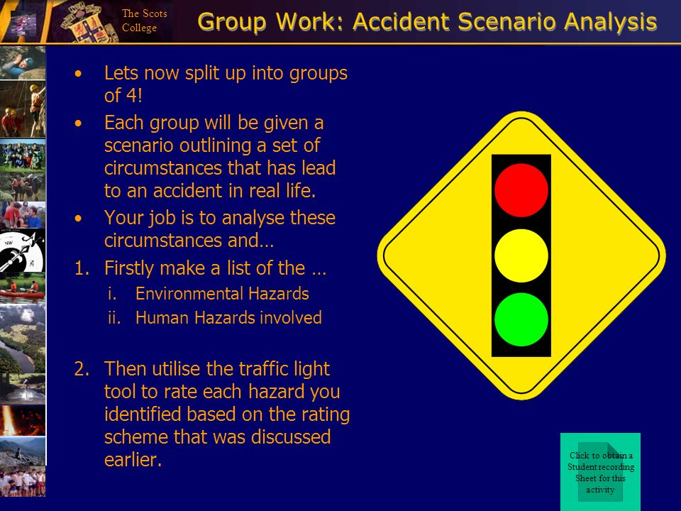 Group Work: Accident Scenario Analysis