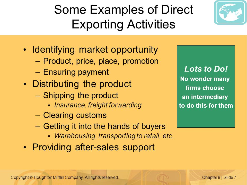 types of direct exporting