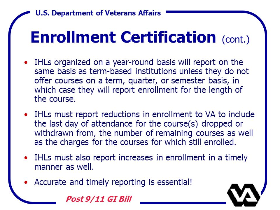 The Post-9/11 GI Bill Chapter ppt download