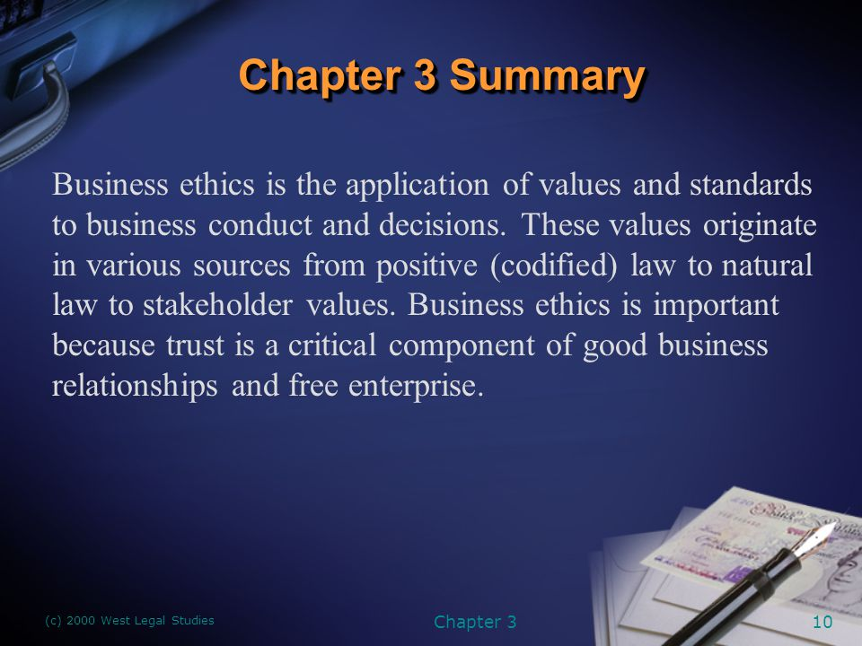 natural law and business ethics