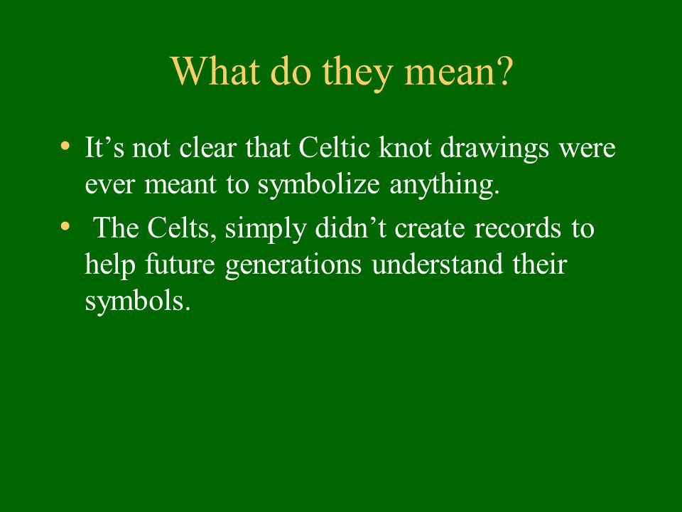 Celtic Knots Fun Facts Ppt Download