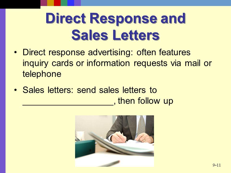 Direct Response and Sales Letters