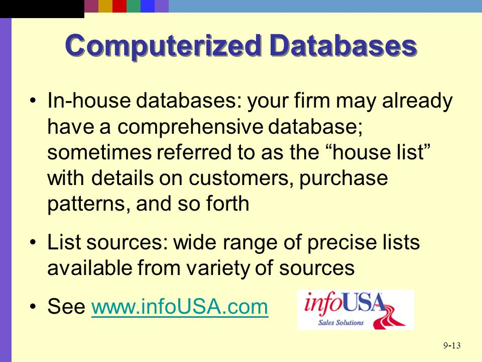 Computerized Databases