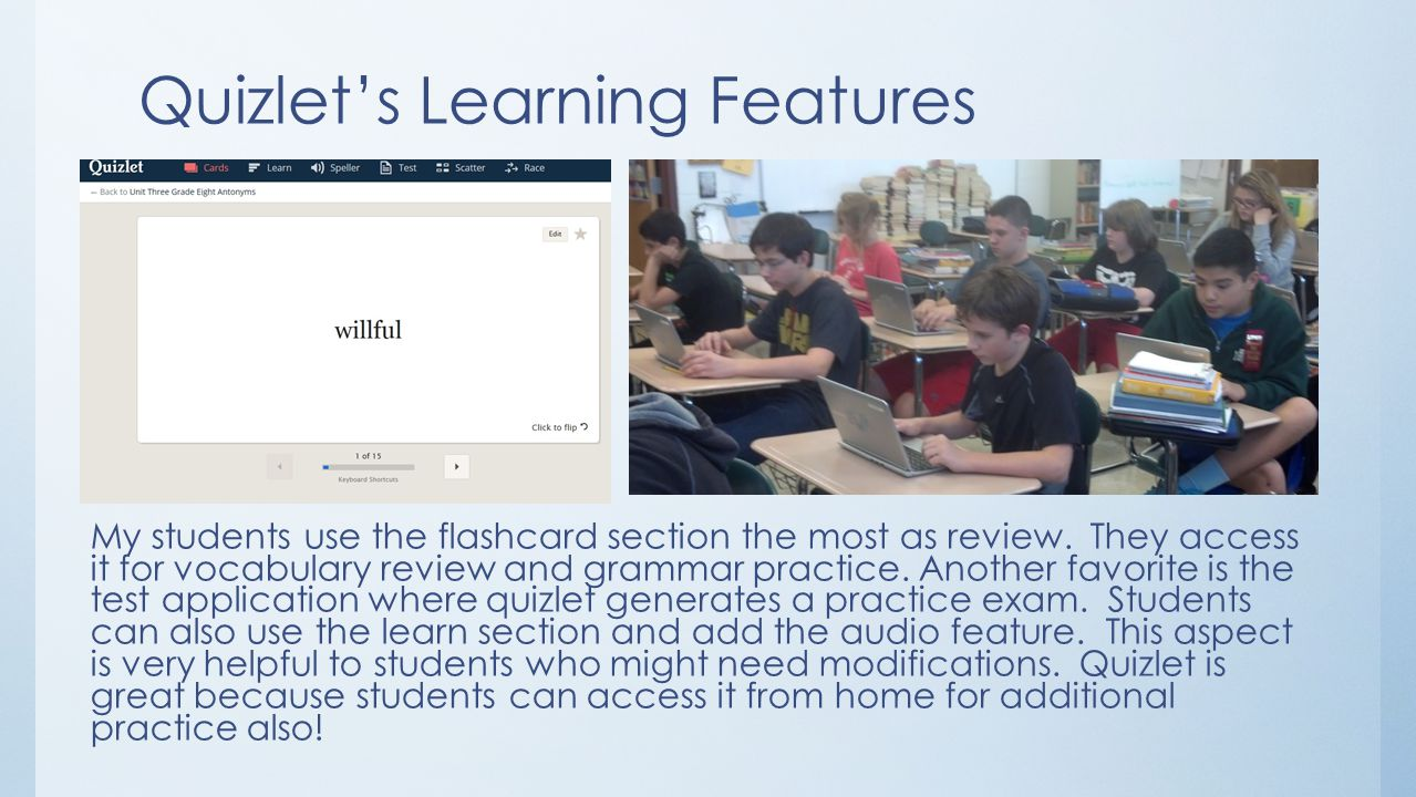 "Quizlet and Padlet: ""Let""ting Technology Live in the Classroom - ppt"