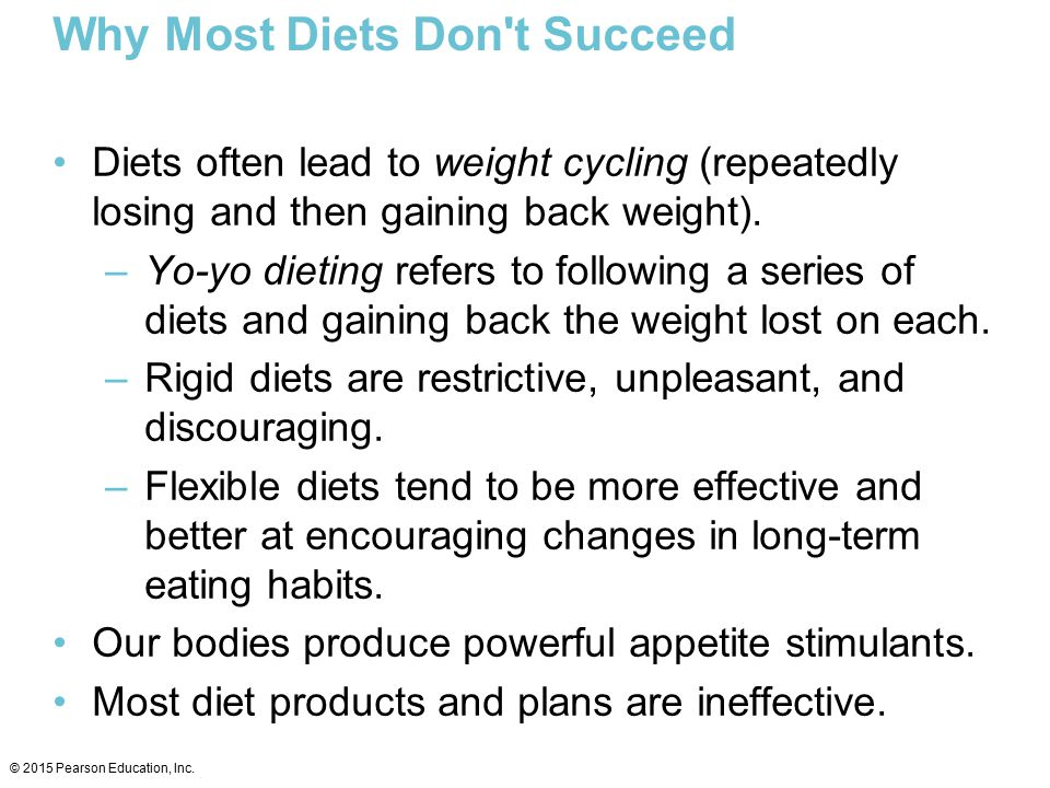 Why Most Diets Don t Succeed