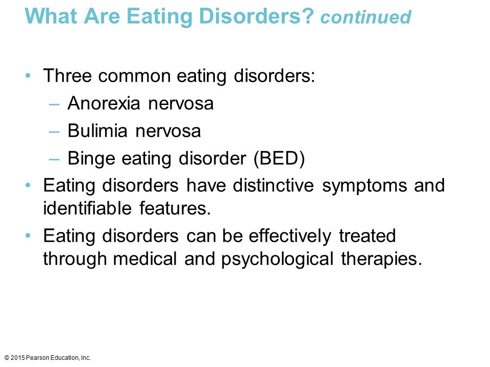 What Are Eating Disorders continued