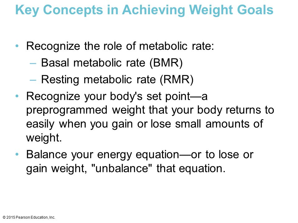 Key Concepts in Achieving Weight Goals