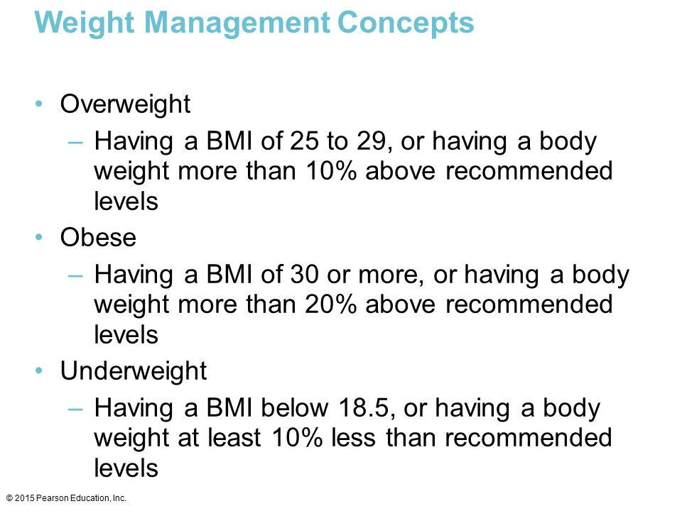Weight Management Concepts