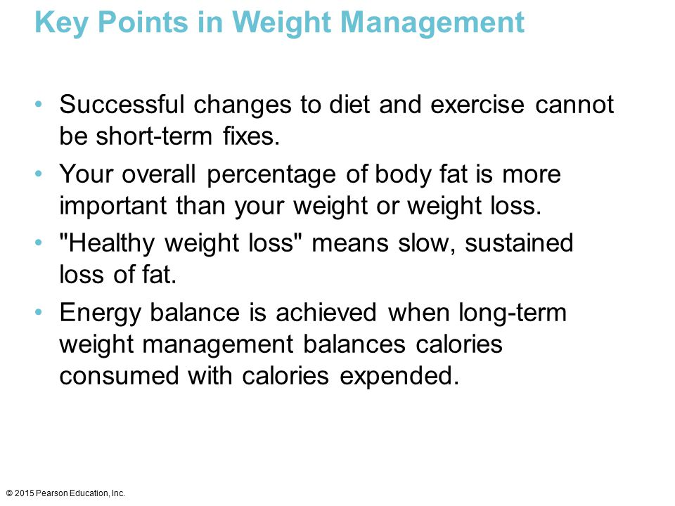 Key Points in Weight Management
