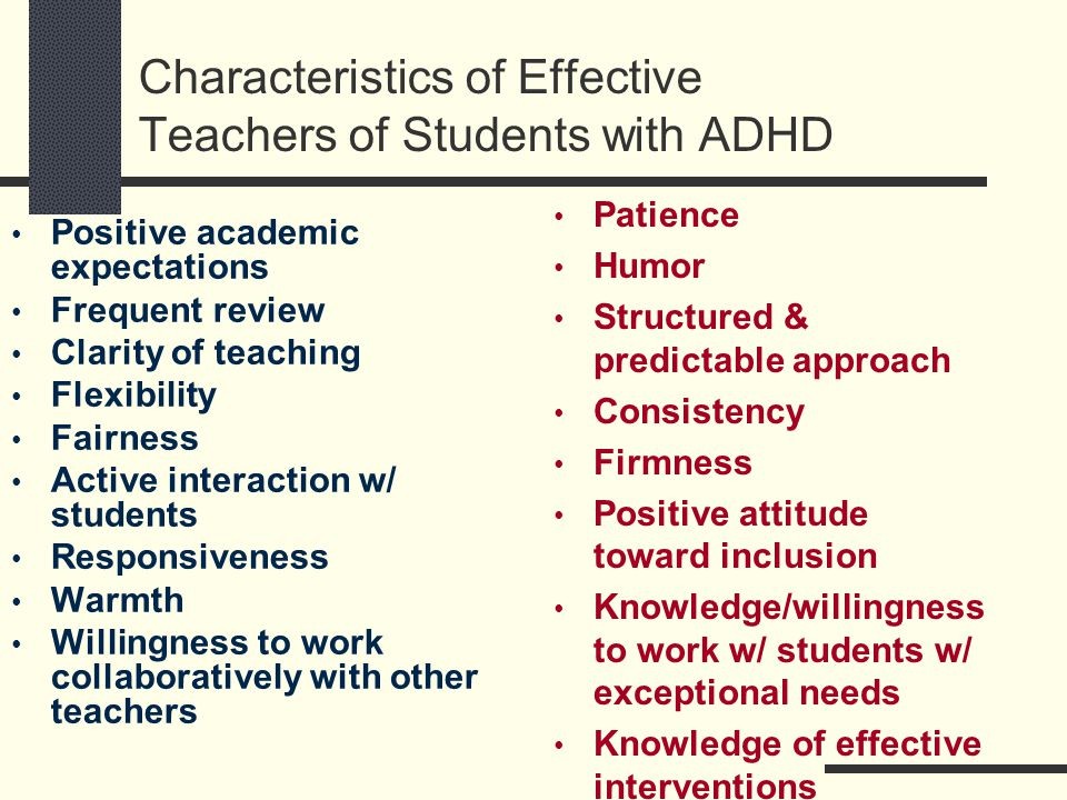 Link Between Adhd Academic Expectations >> Learners With Attention Deficit Hyperactivity Disorder Adhd Ppt