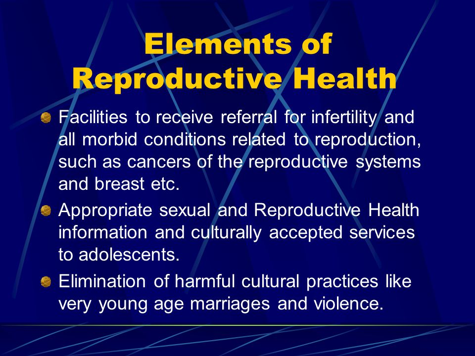 Elements of Reproductive Health