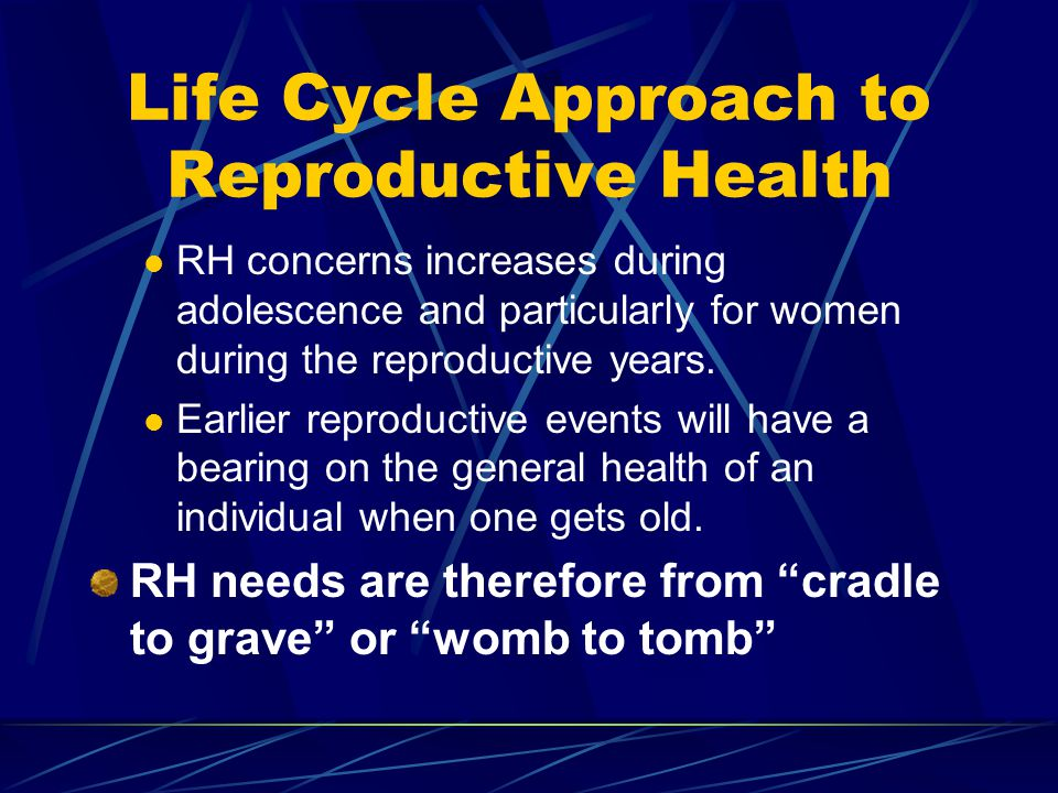 Life Cycle Approach to Reproductive Health