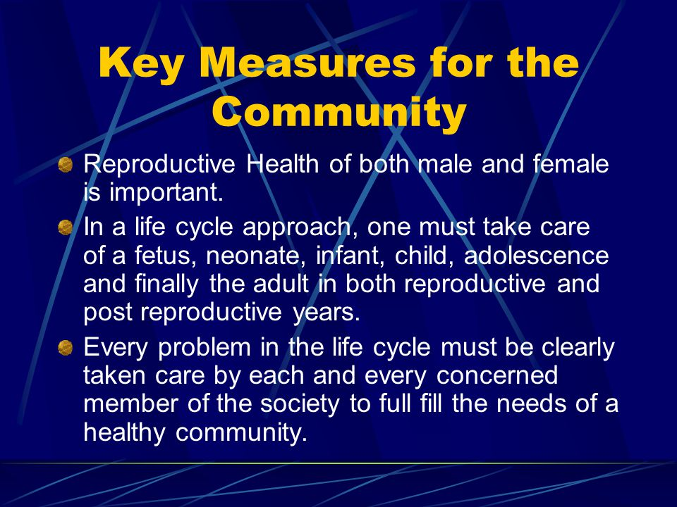 Key Measures for the Community