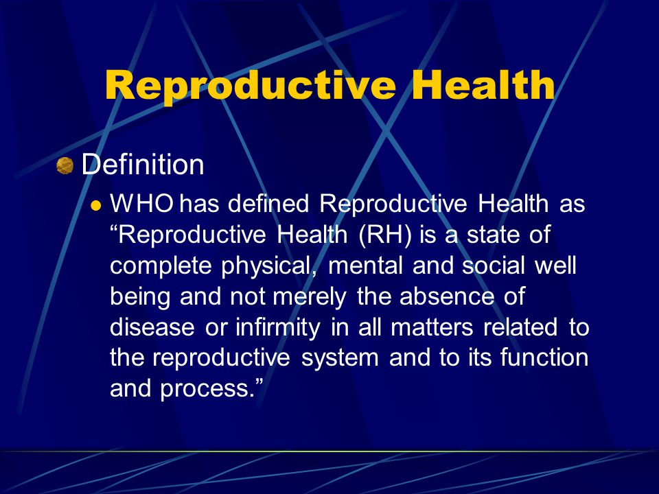 Reproductive Health Definition