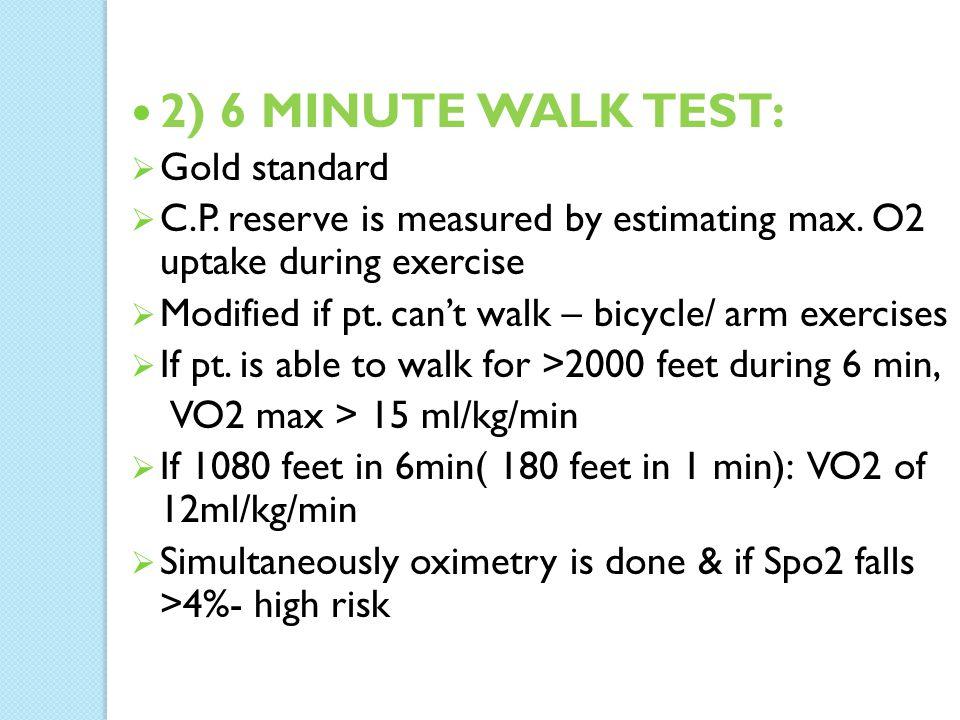 2 6 Minute Walk Test Gold Standard