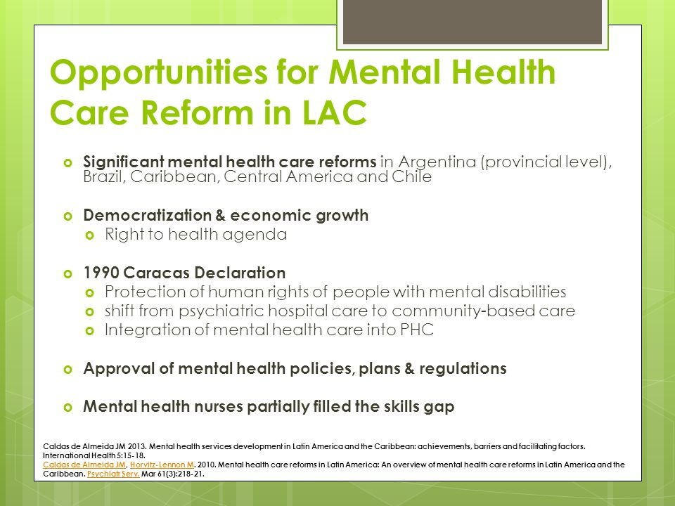 Mental Health In Latin America And Caribbean Ppt Download