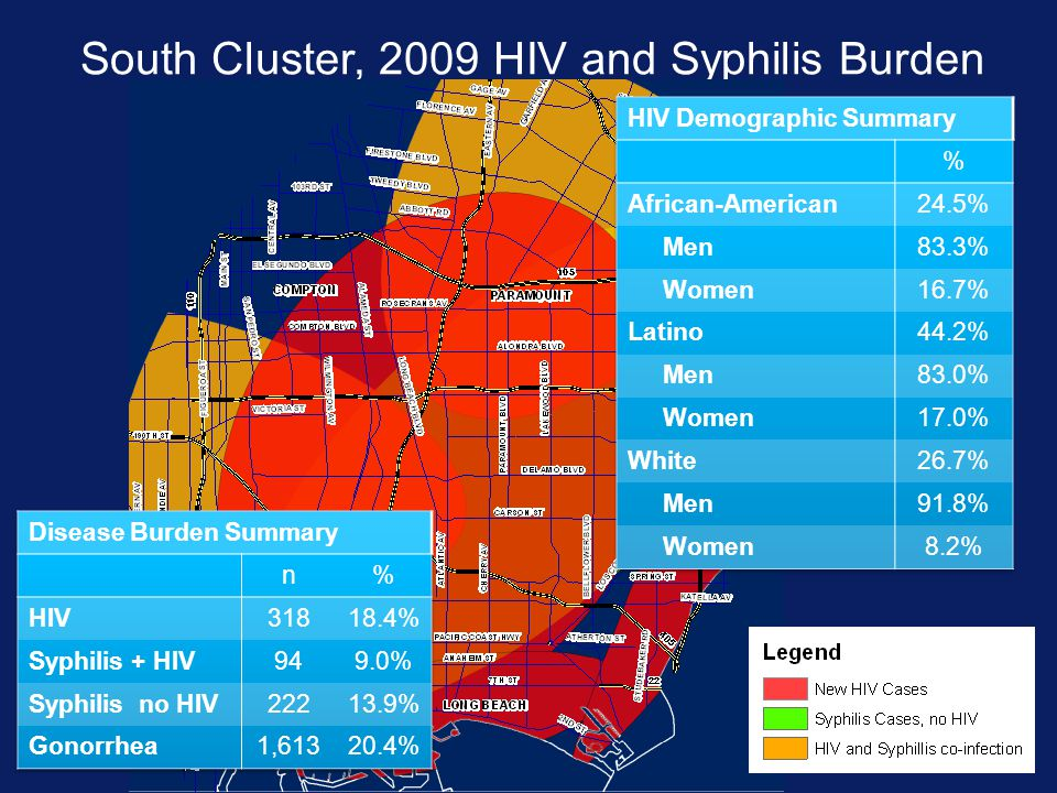 South Cluster, 2009 HIV and Syphilis Burden
