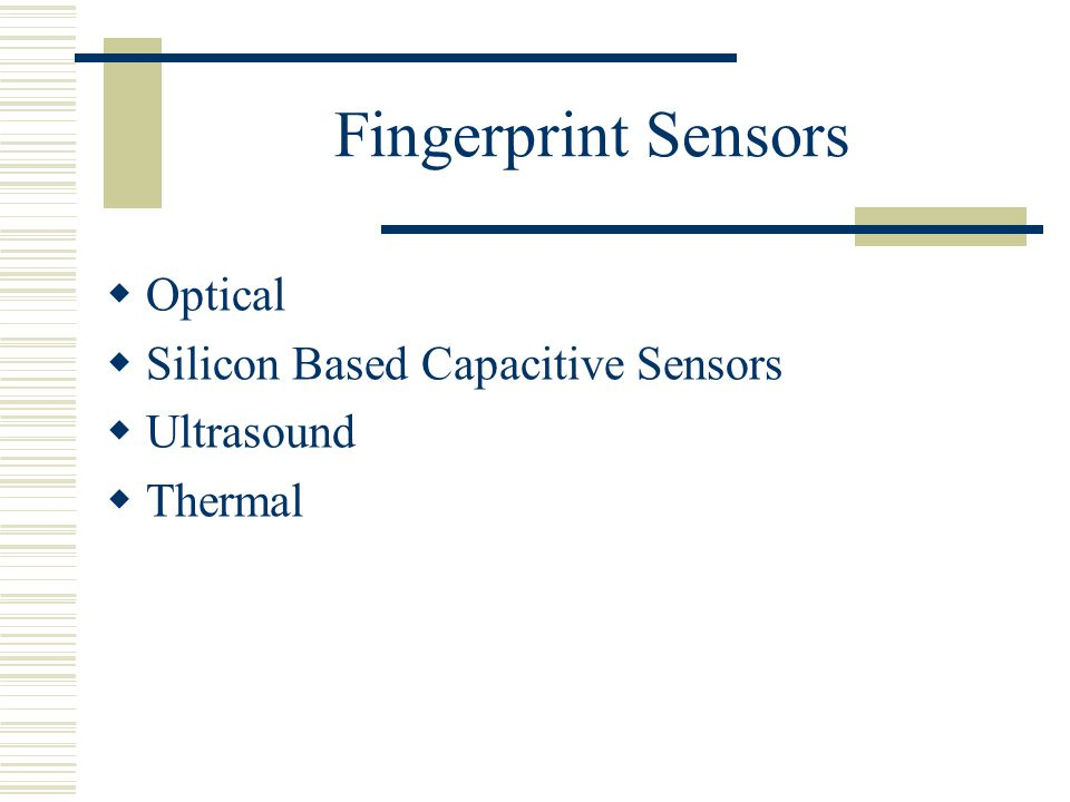 Fingerprint Recognition - ppt download