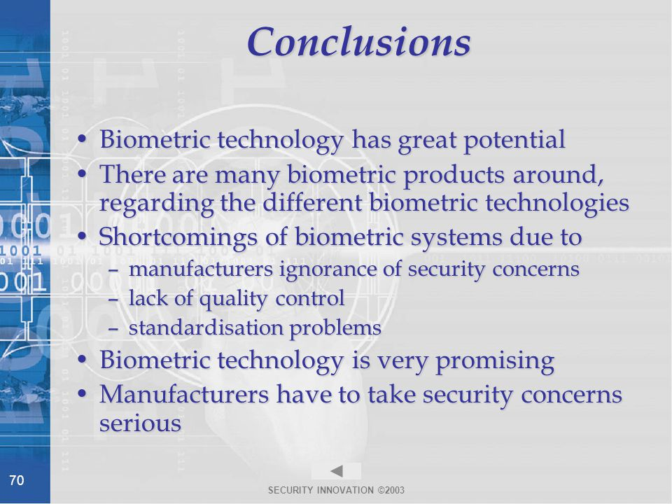An Overview of Biometrics - ppt download