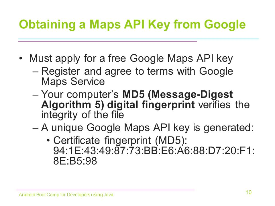 Beaches] Free google map api key for android