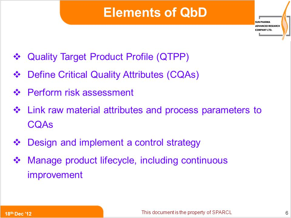 Quality by Design (QbD) in Product Development - ppt video ...