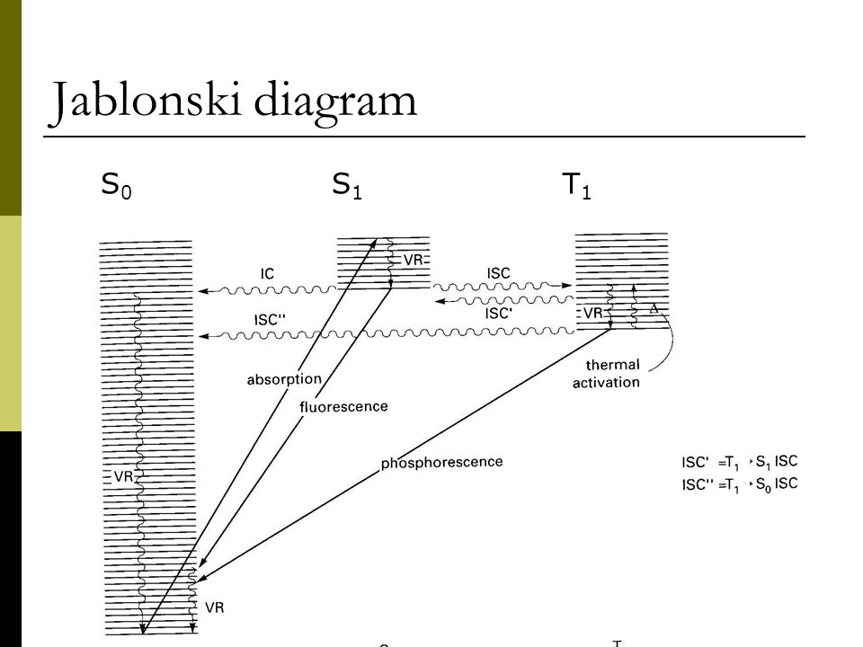 Lecture 3 kinetics of electronically excited states ppt video 2 jablonski diagram s0 s1 t1 ccuart Choice Image