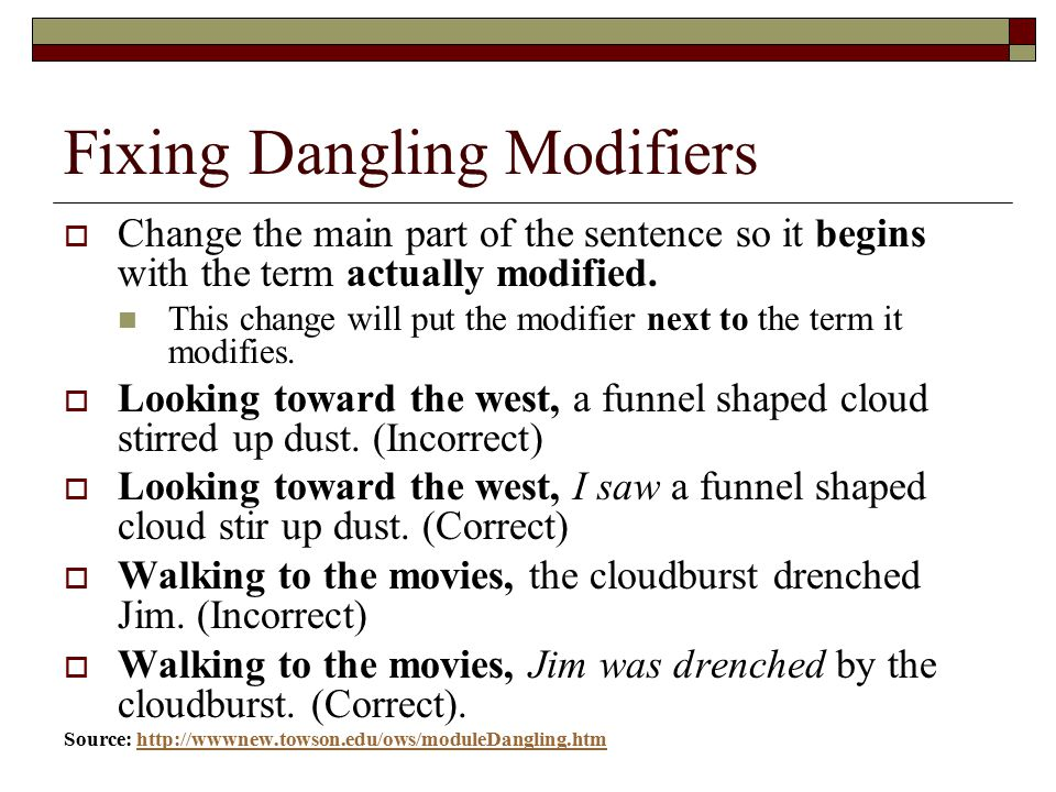Misplaced And Dangling Modifiers Ppt Video Online Download. Fixing Dangling Modifiers. Worksheet. Dangling Modifier Worksheet At Mspartners.co