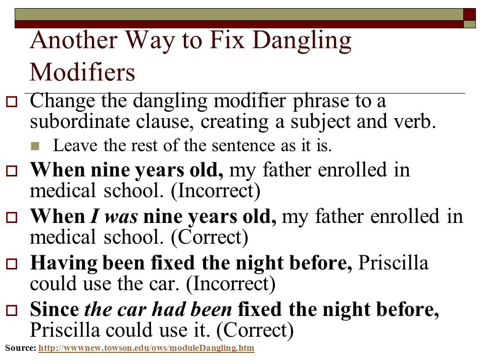 what is the rule for fixing misplaced modifiers