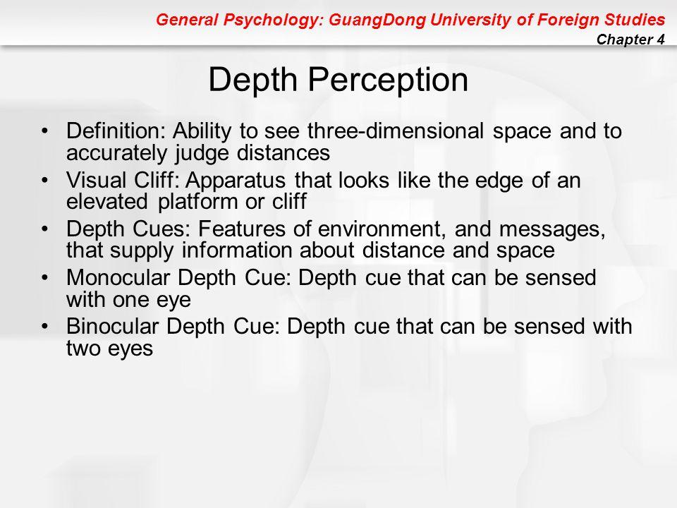 depth perception psychology