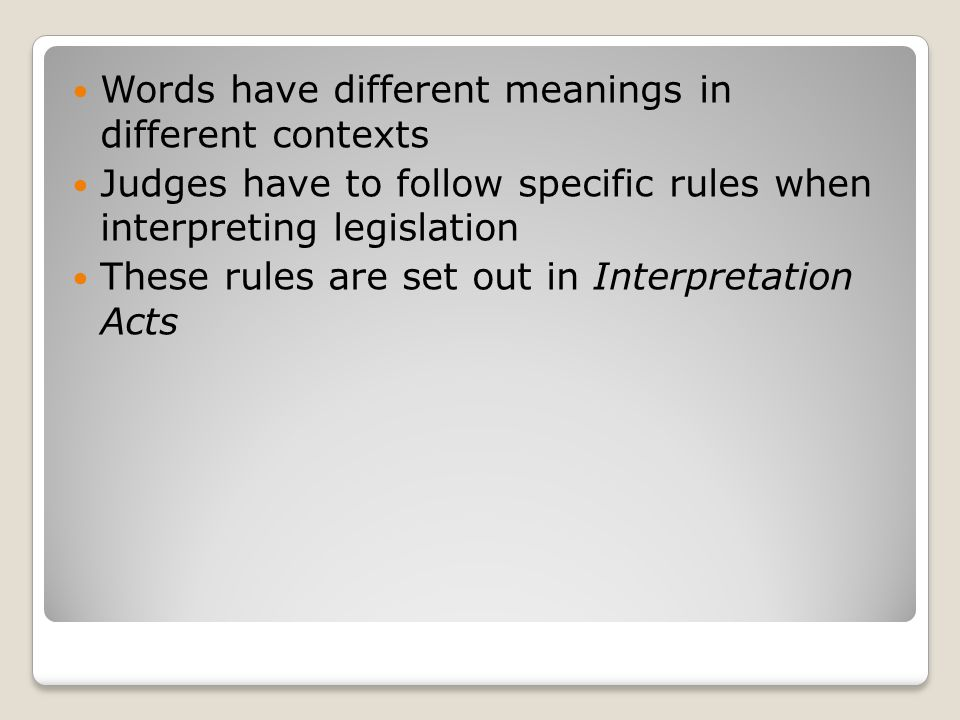 Words have different meanings in different contexts
