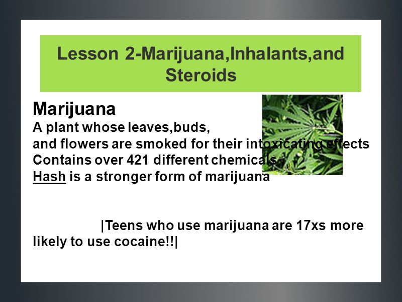 Lesson 2-Marijuana,Inhalants,and Steroids