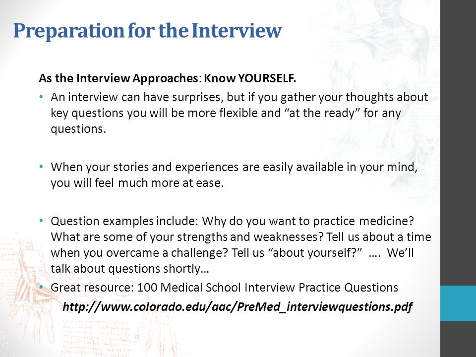 The Health Professions School Interview - ppt download