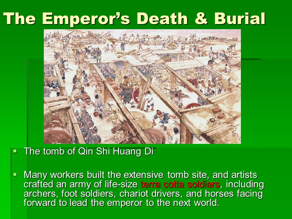 The Emperors Death Burial