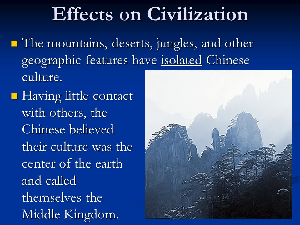 Effects on Civilization