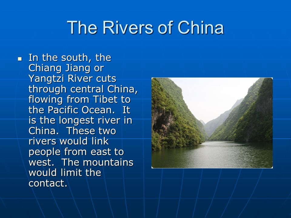 The Rivers of China