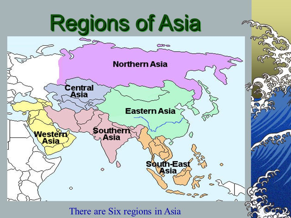 Map Of Asia With Regions.The Geography Of Asia Ppt Video Online Download