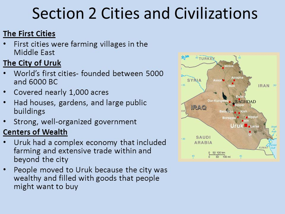 Section 2 Cities and Civilizations
