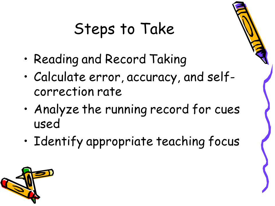 Steps to Take Reading and Record Taking