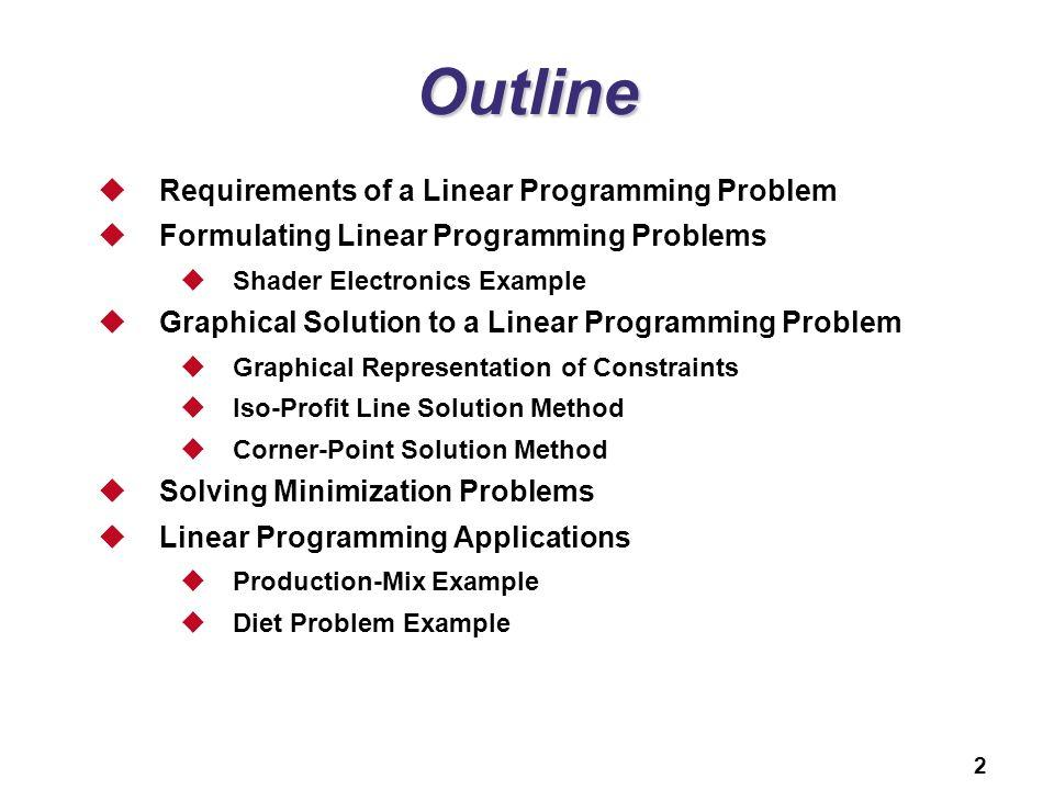 B Linear Programming PowerPoint presentation to accompany