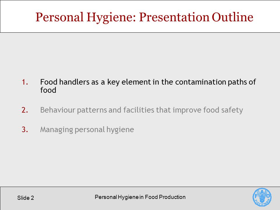 Personal Hygiene in Food Production - ppt video online download