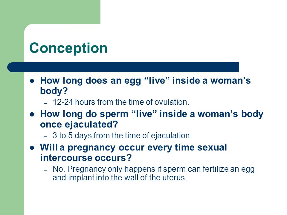 How long can sperm stay alive in womans body photos 776