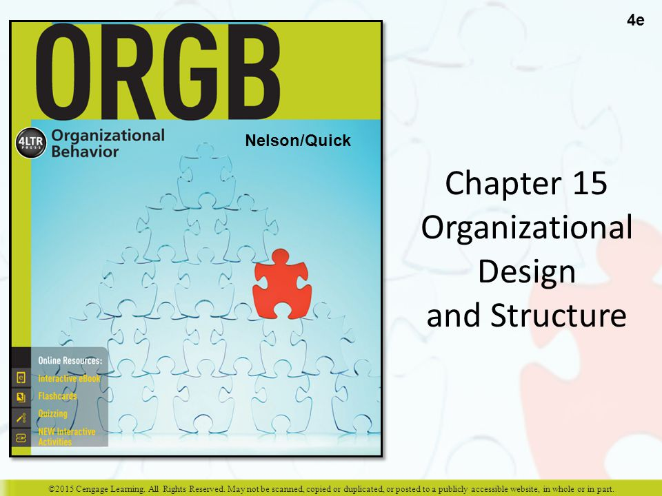 Chapter 15 Organizational Design and Structure