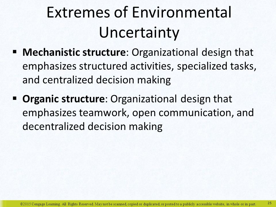 Extremes of Environmental Uncertainty