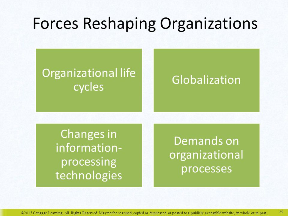 Forces Reshaping Organizations