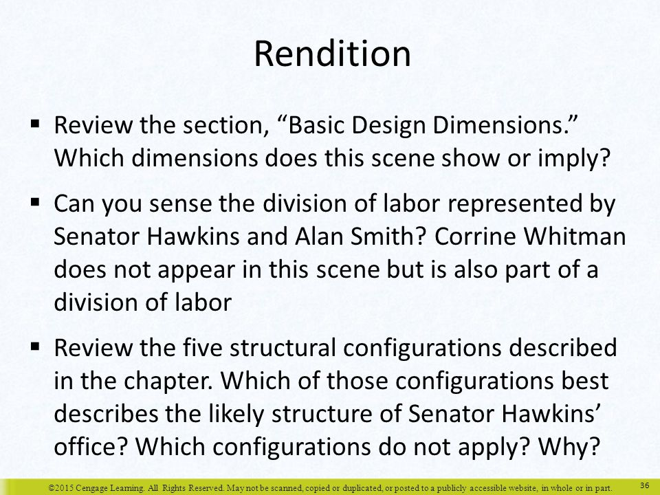 Rendition Review the section, Basic Design Dimensions. Which dimensions does this scene show or imply